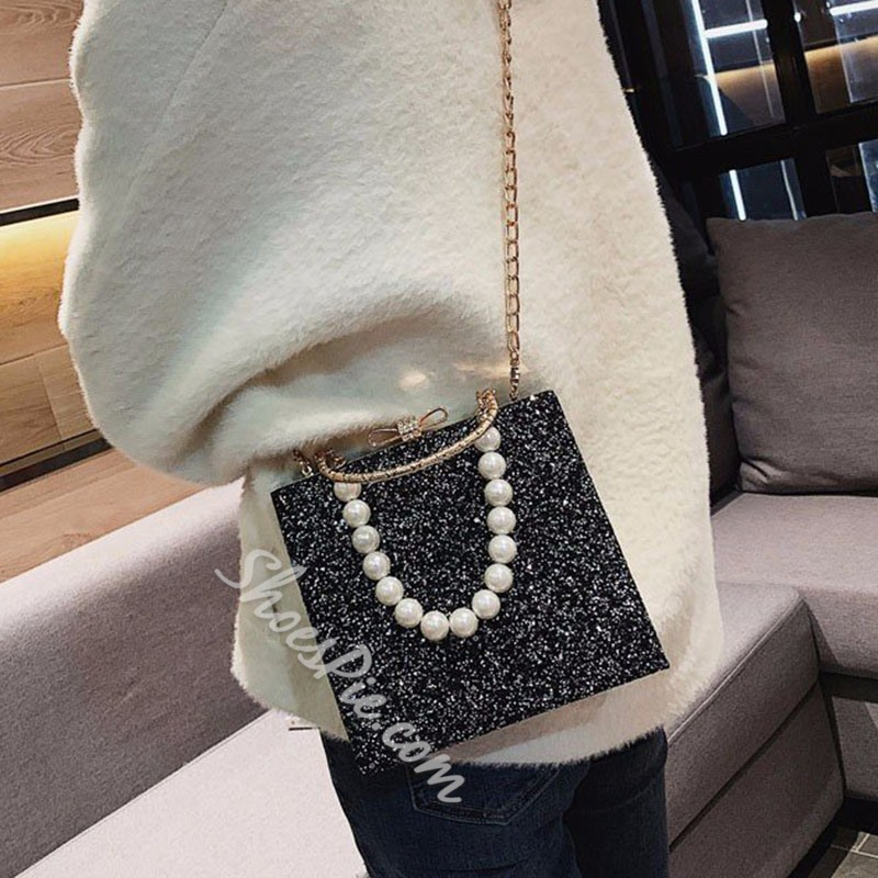Shoespie Chain Flap Tote Bags
