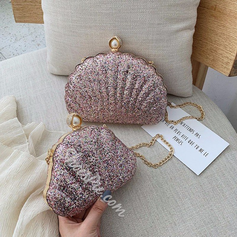 Shoespie Chain Shell Crossbody Bags