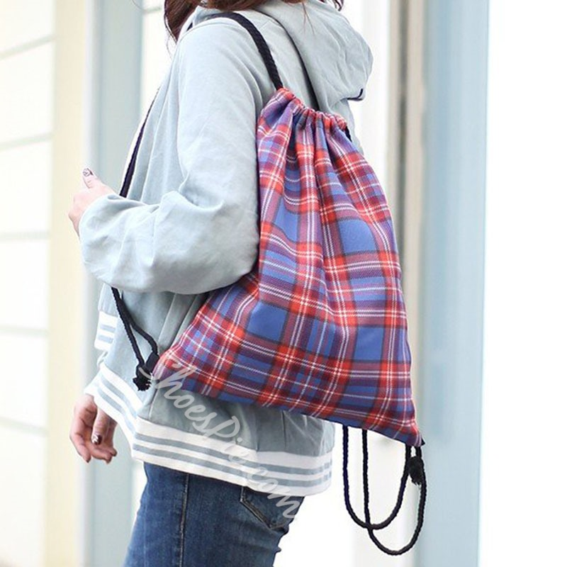 Shoespie Print Oxford Casual Backpacks