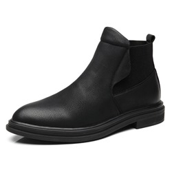 Shoespie Men's Pointed Toe Plain PU Boots