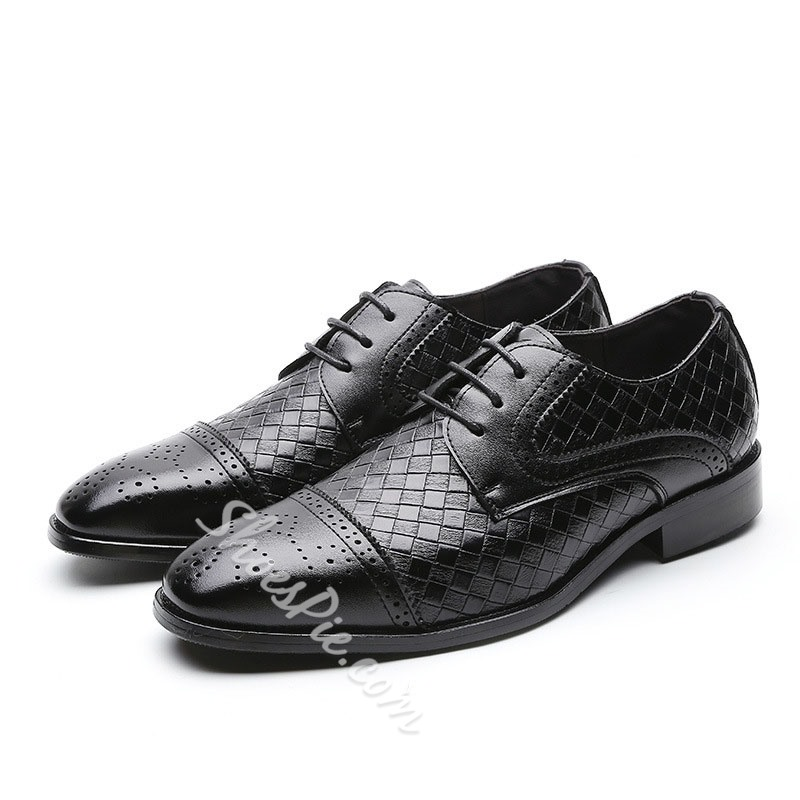 Shoespie Men's Low-Cut Upper PU Leather Shoes