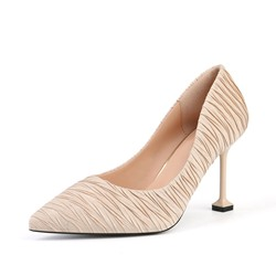 Shoespie Sexy Pointed Toe Slip-On Stiletto Heel Low-Cut Upper Thin Shoes
