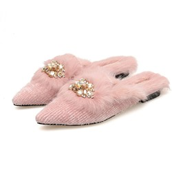 Shoespie Sexy Closed Toe Slip-On Flat With Casual Slippers