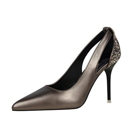 Shoespie Trendy Pointed Toe Sequin Slip-On Low-Cut Upper Thin Shoes