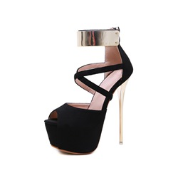 Shoespie Sexy Stiletto Heel Peep Toe Heel Covering Low-Cut Upper Sandals