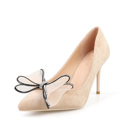 Shoespie Trendy Stiletto Heel Bow Slip-On High Heel Thin Shoes