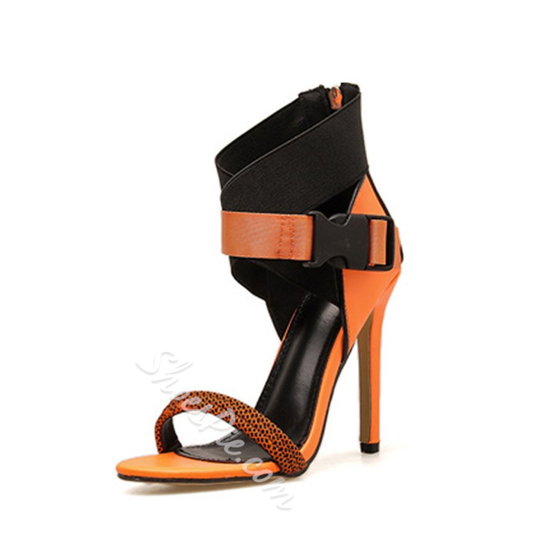 Shoespie Sexy Buckle Stiletto Heel Heel Covering Low-Cut Upper Sandals