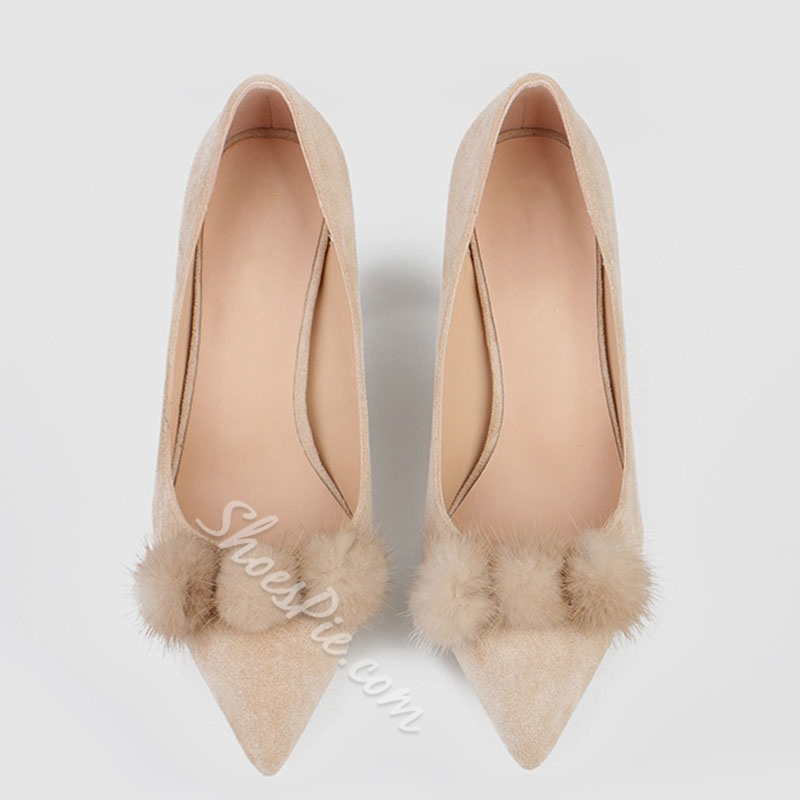 Shoespie Trendy Pointed Toe Slip-On Plain Thin Shoes