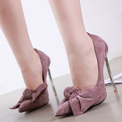Shoespie Sexy Slip-On Bow Stiletto Heel Ultra-High Heel Thin Shoes
