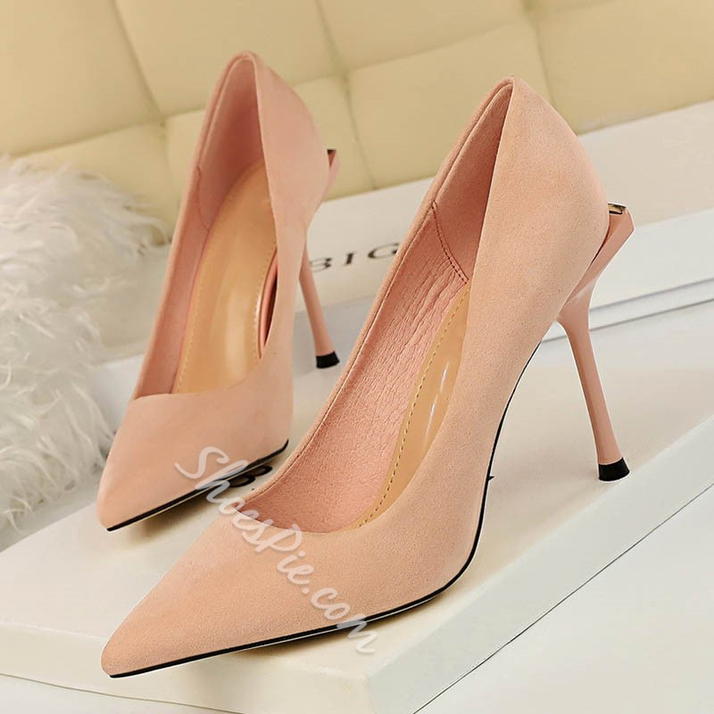 Shoespie Sexy Pointed Toe Slip-On Stiletto Heel Korean Thin Shoes