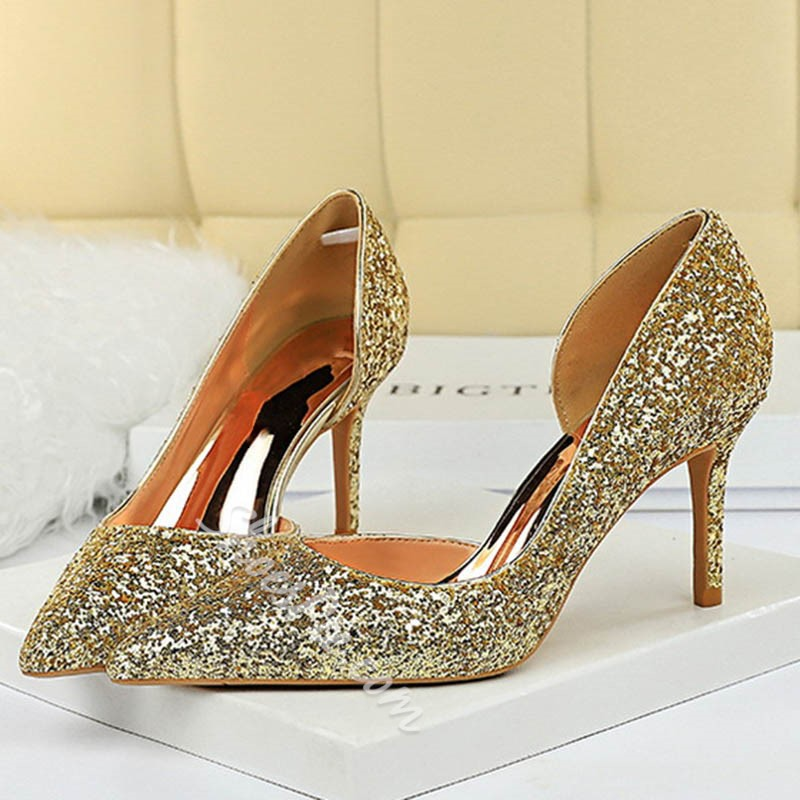 Shoespie Sexy Pointed Toe Slip-On Stiletto Heel High Heel Thin Shoes