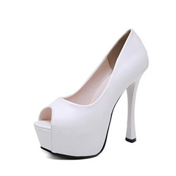 Shoespie Trendy Stiletto Heel Slip-On Platform Banquet Thin Shoes