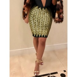 Bodycon Sequins Mini Skirt Fashion Women's Skirt