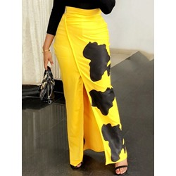 Print Floor-Length Pencil Skirt Fashion Women's Skirt