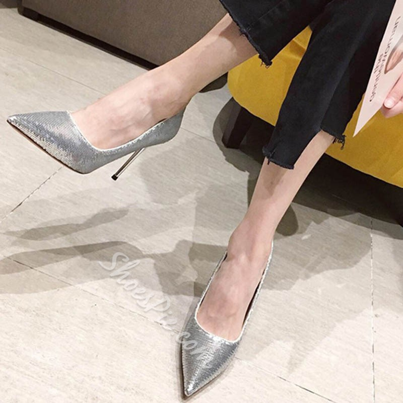 Shoespie Trendy Stiletto Heel Pointed Toe Slip-On Casual Thin Shoes