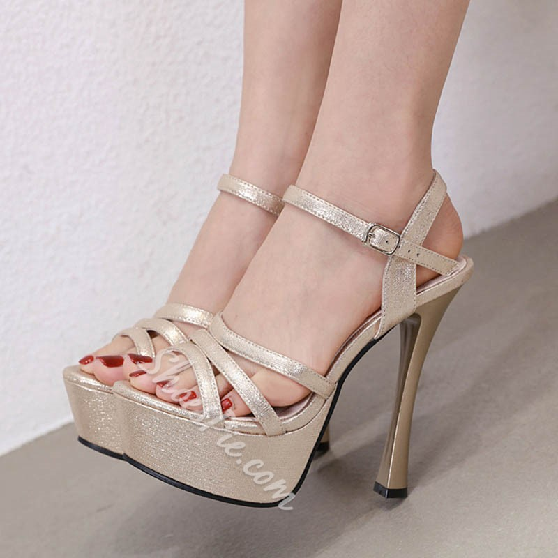 Shoespie Sexy Open Toe Ankle Strap Line-Style Buckle Casual Sandals