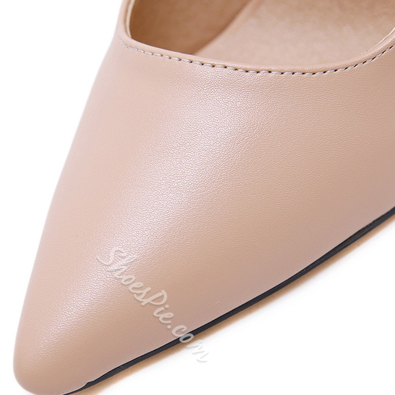 Shoespie Stylish Pointed Toe Slip-On Thread Sexy Thin Shoes