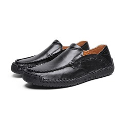 Shoespie Men's Slip-On Plain Low-Cut Upper Round Toe Loafers
