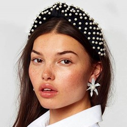 European Pearl Inlaid Hairband Birthday Hair Accessories