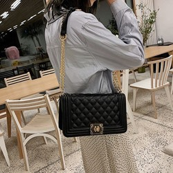 Shoespie Plaid Thread PU Rectangle Crossbody Versatile Bags