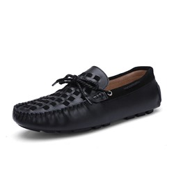 Shoespie Men's Slip-On Low-Cut Upper Plain Round Toe Loafers