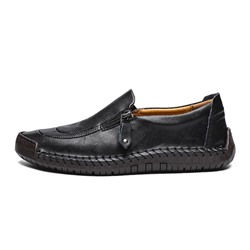 Shoespie Men's Zipper Low-Cut Upper Round Toe Thin Shoes