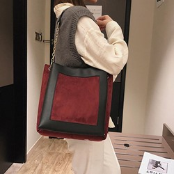 Shoespie PU Thread Rectangle Shoulder Bags