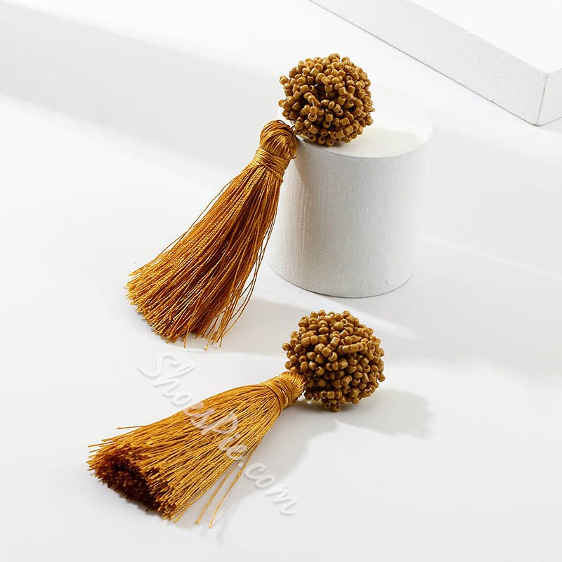Plain Tassel Bohemian Holiday Earrings