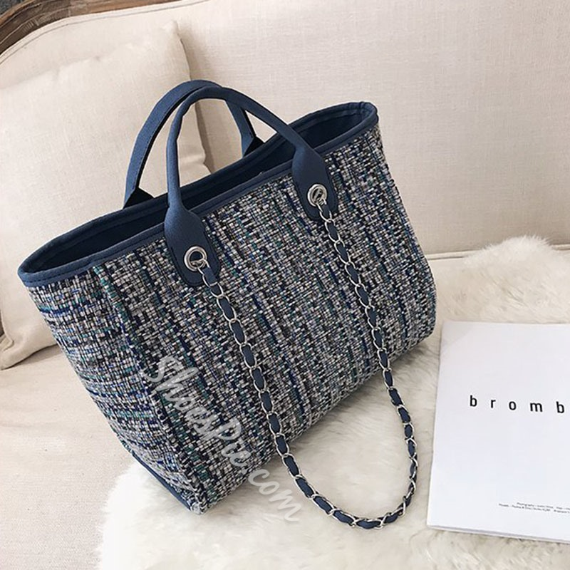 Shoespie Knitted Rectangle Shoulder Bags