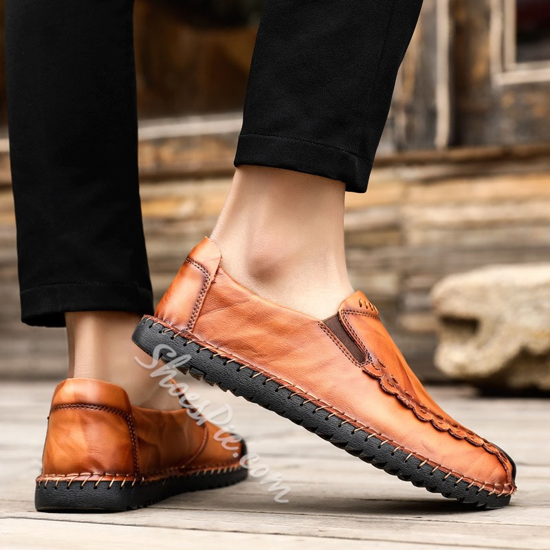 Shoespie Men's Slip-On Low-Cut Upper Microfiber Loafers