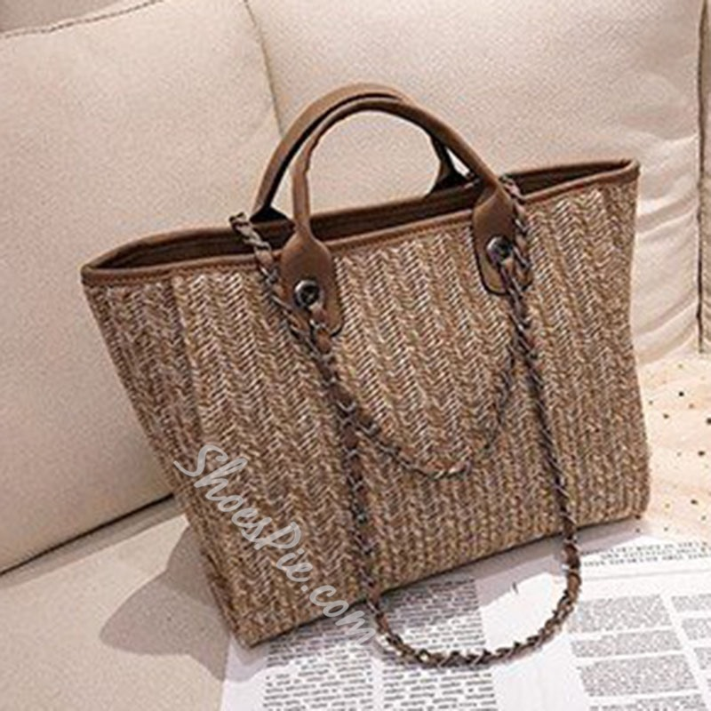 Shoespie Knitted Rectangle Tote Bags