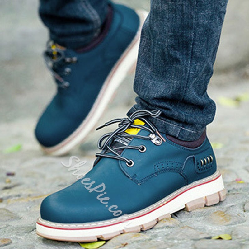 Shoespie Men's Sports Low-Cut Upper Lace-Up Round Toe Casual Shoes
