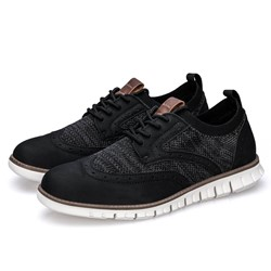 Shoespie Men's Low-Cut Upper Sports Lace-Up Round Toe Shoes