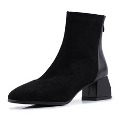 Shoespie Sexy Plain Chunky Heel Round Toe Thread Boots