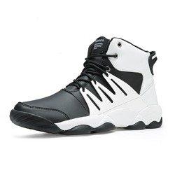 Shoespie Men's Sports High-Cut Upper Lace-Up Mesh Sneakers