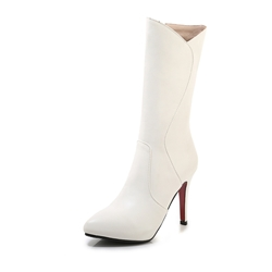Shoespie Stylish Plain Pointed Toe Side Zipper Sexy Boots