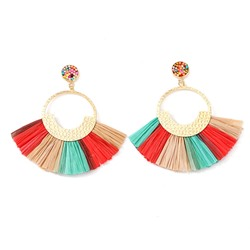 European E-Plating Alloy Holiday Earrings