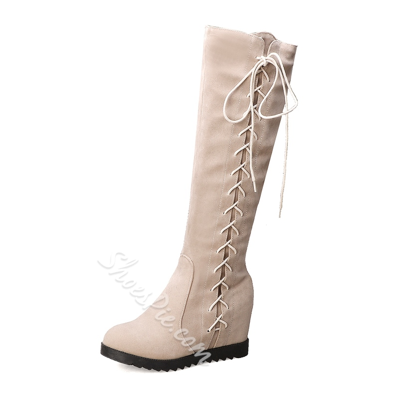 Shoespie Sexy Plain Round Toe Side Zipper Casual Boots