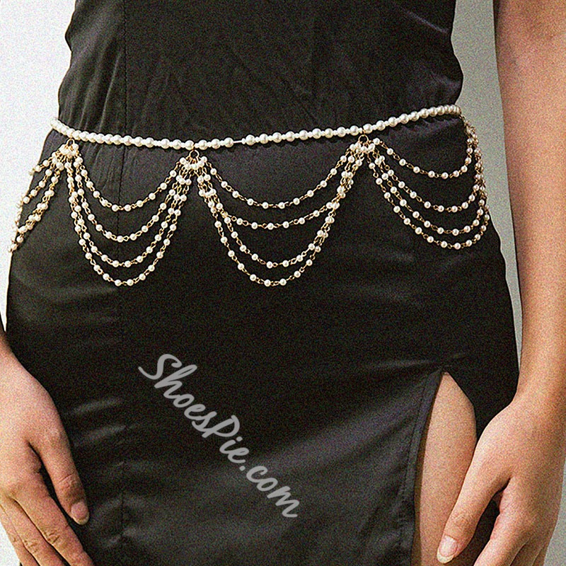 Pearl Chain European Waist Chains
