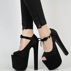 Shoespie Sexy Thread Line-Style Buckle Peep Toe Ultra-High Heel Thin Shoes