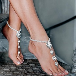 Diamante Plain Female Anklets Anklets