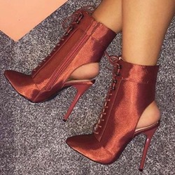 Shoespie Sexy Pointed Toe Plain Side Zipper Casual Boots