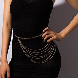 European Metal Female Waist Chains