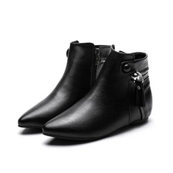 Shoespie Sexy Pointed Toe Side Zipper Casual Boots