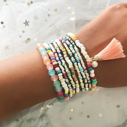 Japanese Handmade Color Block Female Bracelets