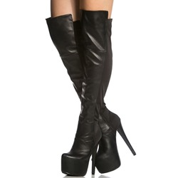 Shoespie Trendy Side Zipper Plain Stiletto Heel Zipper Boots