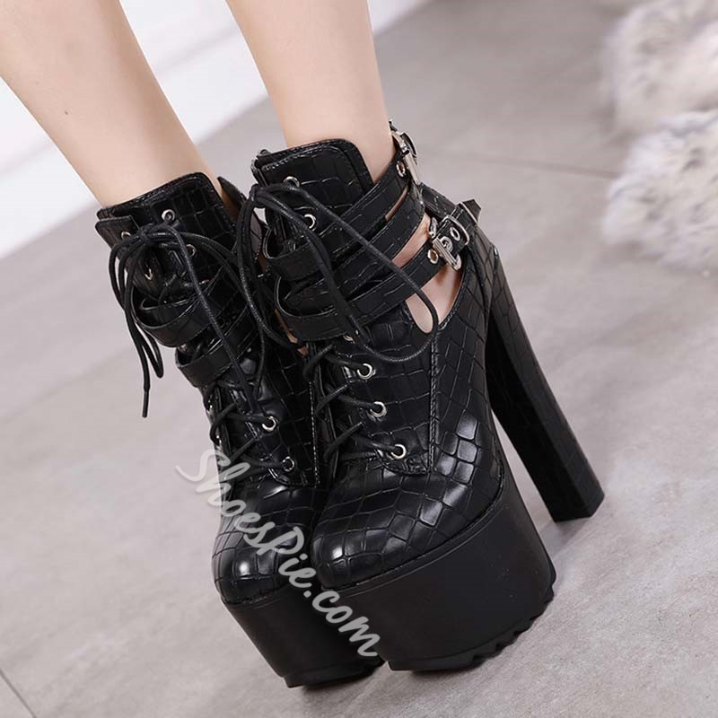 Shoespie Stylish Round Toe Plain Back Zip Casual Boots