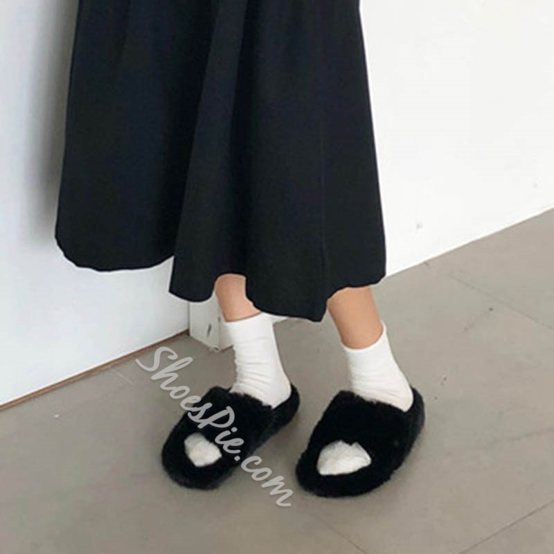 Shoespie Sexy Cross Flat With Slip-On Indoor Slippers