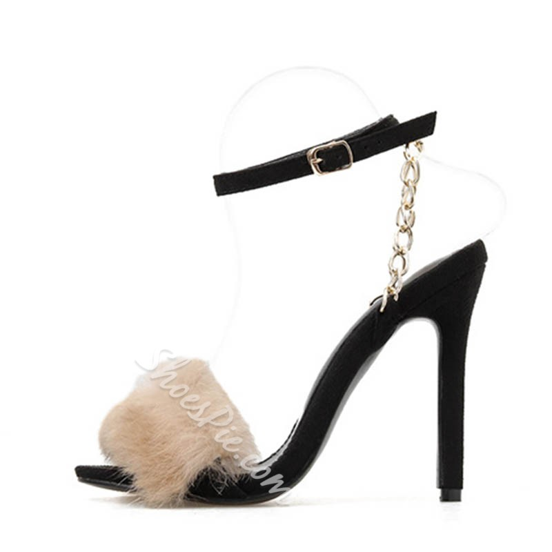 Shoespie Sexy Line-Style Buckle Ankle Strap Open Toe Western Sandals