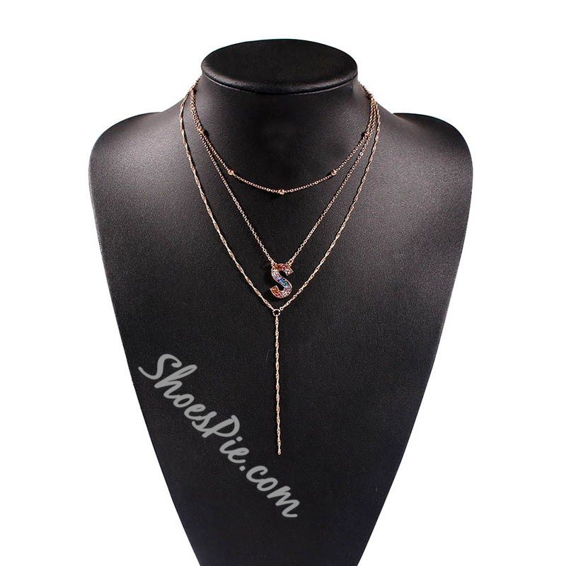 Letter European Pendant Necklace Female Necklaces